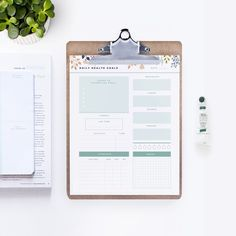 Was your resolution this year to be healthy? Stay on track with this printable health goals worksheet. {email required}
