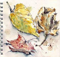 done in pen and aquarelle in Hahnemule watercolor sketchbook