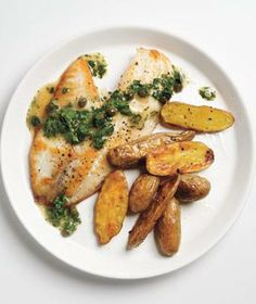 Tilapia With Caper-Parsley Sauce recipe from realsimple.com #myplate #protein