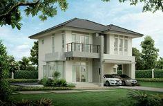 Rumah model Double Storey House, 2 Storey House, Storey Homes, Home Entrance Decor, House Entrance, Minimalist House Design, Modern House Design, Plans Architecture, Architecture Design