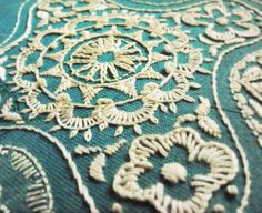 faux doily whitework embroidery