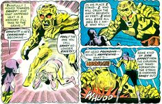 Sandy is transformed into a being of silicon. From Justice League of America #113 (1974); art by Dick Dillin and Dick Giordano.