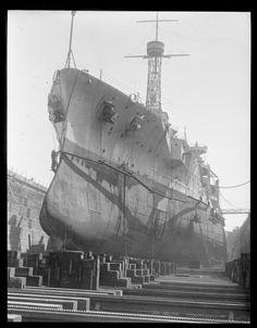 USS Utah (BB-31) in South Boston drydock 1929. [999x1278]