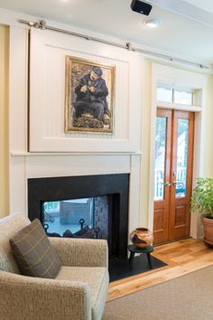 Hidden Tv Fireplace Design Ideas, Pictures, Remodel and Decor