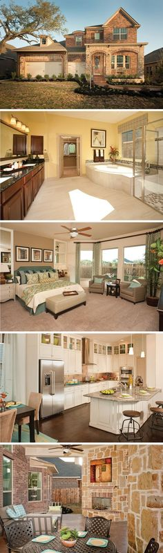 The Expedition by David Weekley Homes in Heights at Two Creeks is a 4 bedroom, 3 bathroom floorplan that features a breakfast nook, an open kitchen and family room layout, and a 3 car garage. Custom home updates include a fireplace in the family room, a covered porch, or a corner tub in the owners bathroom.