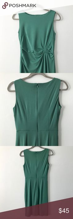 Ann Taylor Gathered Waist Sheath Dress Form-flattering dress in luxe sea green fabric mix. Gorgeous details like the gathered waist and attractive darting on front and back make this dress a standout.  Gently used. In excellent, like new condition.  Save 15% by bundling with another item in my closet! Orders received by 4pm ET ship same day. Ann Taylor Dresses