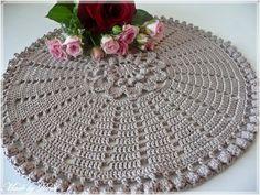 Made by Deni: . Crochet Tablecloth, Chrochet, Doilies, Tree Skirts, Blankets, Christmas Tree, Rugs, Holiday Decor, Dish