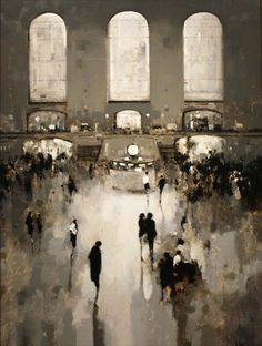 Geoffrey Johnson, Study Grand Central, 2013, Oil on panel, 40 x 30 inches