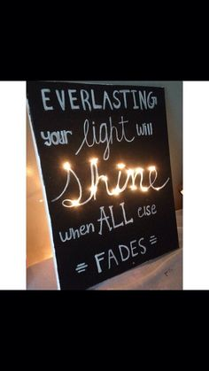 Light up Christian song lyric painting by AshtonsPassion on Etsy, $25.00