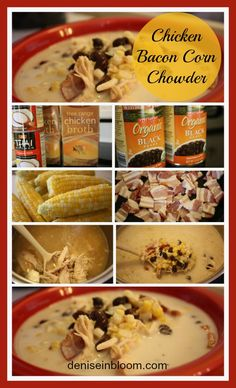 perfect fall chicken-corn-chowder soup.  Can be made dairy free with coconut milk!