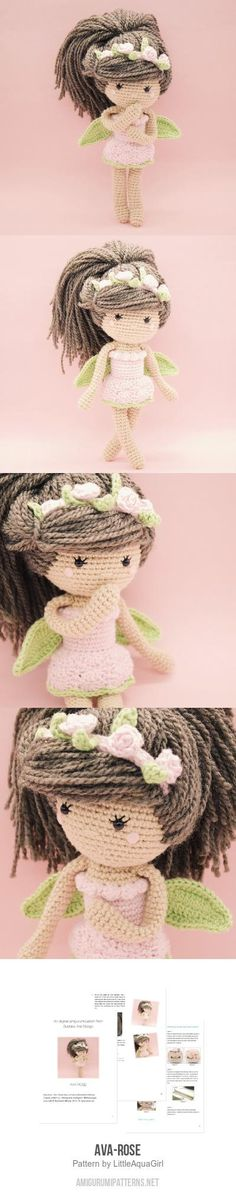 Ava-Rose amigurumi pattern by LittleAquaGirl