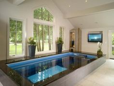 indoor swim spa designs - Google Search | Dream House Swimming ...