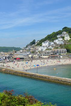 The characterful seaside town of Looe, South Cornwall Looe Cornwall, Cornwall Beaches, Cornish Coast, Old Faithful, Holiday Accommodation, Seaside Towns, Sandy Beaches, Holiday Destinations, San Francisco Skyline
