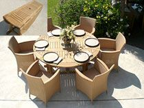 Royal Teak Round Drop Leaf Patio Dining Table - Patio Dining Tables at Hayneedle Outdoor Wood Dining Table, Round Dining Table Sets, Wicker Dining Chairs, Expandable Dining Table, Teak Table, Wood Patio, Patio Table, Patio Chairs, Patio Dining