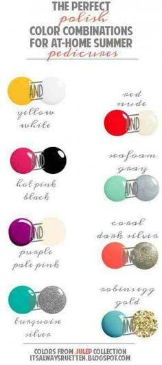 Perfect Nail Polish Combinations #Beauty #Trusper #Tip