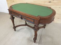 A desk with flannel writing surface Poker Table, Flannel, Surface, Desk, Writing, Projects, Furniture, Home Decor, Log Projects