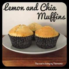Lemon and Chia Muffins I ran out of poppy seeds so decided to use chia seeds instead. They worked a treat! You can freeze these muffins . Citrus Recipes, Sweet Recipes, Donuts, Bellini Recipe, Chia Recipe, Thermomix Desserts, Just Cakes, Favorite Recipes, Chia Seeds