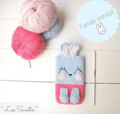 Funda conejil crochet