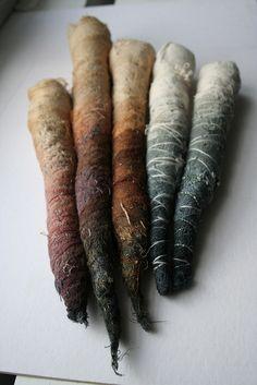 Bundle, INK, TEA DYE, Embroidery-Silence by Lotu, via Flickr