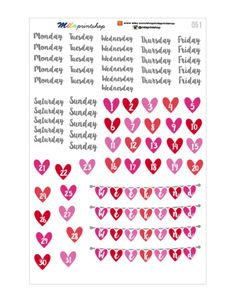 You are looking at a cute and functional Die Cut Planner stickers. They are perfect to use for reminders and decorations.  All stickers are kiss