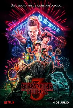 Netflix releases a brand new Stranger Things season 3 poster exactly one month before it's set to hit the streaming platform on July Stranger Things Netflix, Poster Stranger Things, Stranger Things Tumblr, Stranger Things Aesthetic, Stranger Things Season 3, Cast Stranger Things, Secret Plot, Starnger Things, Tv Series 2016