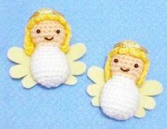 Crocheted  Christmas Angels  set of 2 van DarmianiDesign op Etsy