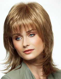Nina Wig by Revlon has razor cut layers and jagged bangs that perfectly complement any face shape.