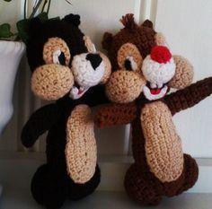Piff och Puff, mönster från Ravelry.