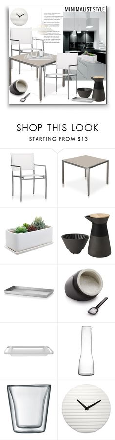 """Minimalist Style"" by marionmeyer ❤ liked on Polyvore featuring interior, interiors, interior design, home, home decor, interior decorating, Harbour Outdoor, Stelton, Hudson Park and Crate and Barrel"