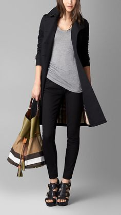 Olive green/saddle brown Large Canvas Check Hobo Bag - Image 2