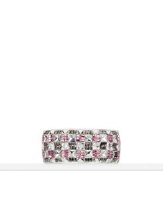 Resin cuff with metal and diamantés - CHANEL