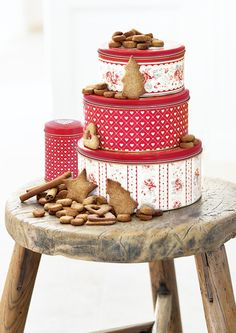 Love these red tins from Greengate
