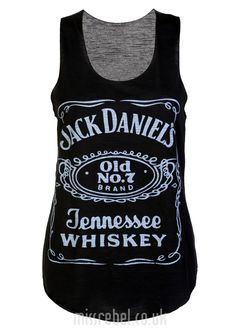 Jack Daniells Casual Vest Top / Black - Womens Clothing Sale, Womens Fashion, Cheap Clothes Online   Miss Rebel