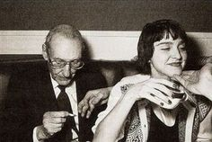 """When Madonna met Burroughs  An uncredited photo taken of William S. Burroughs and an """"up and coming"""" young Madonna during the author's big 70th birthday bash at the Limelight nightclub."""