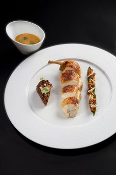 """Free range chicken from """"Bresse""""@ Le Cinq"""
