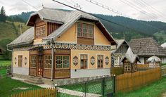 Visit the historical region of Bucovina in a private day trip from Iasi, explore the famous UNESCO Painted Monasteries, and discover the craft of black pottery. Little Cottages, Little Houses, Ukraine, European House, Good House, Cozy Cottage, Cabin Homes, Traditional House, House Painting
