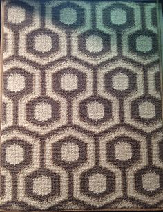 Queen Bee carpeting. Chocolate brown and tan.