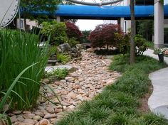 Turning your drainage ditch into a beautiful dry stream bed   Outdoor Landscaping Ideas Outdoor Landscaping Ideas