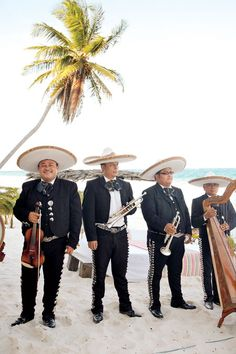 Mariachi wedding band for a beach wedding in Tulum, Mexico