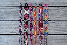Handmade friendship bracelets, made with high quality cotton thread. Bracelet width: 1.2 - 2.4 cm. Bracelets are numbered from left to right. If youre interested in a custom order, feel free to message me