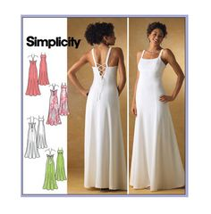 2000s EVENING GOWN PATTERN Dress Pattern Maxi Dress Pattern UNCuT Simplicity 4143 Women's Sewing Patterns by DesignRewindFashions on Etsy