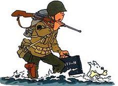 Aviation War 1939-1945. Tintin goes to Omaha Beach.