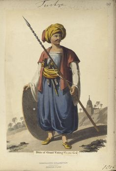 Mameluke of Grand Vizier. The Vinkhuijzen collection of military uniforms / Turkey, 1818. See McLean's Turkish Army of 1810-1817.