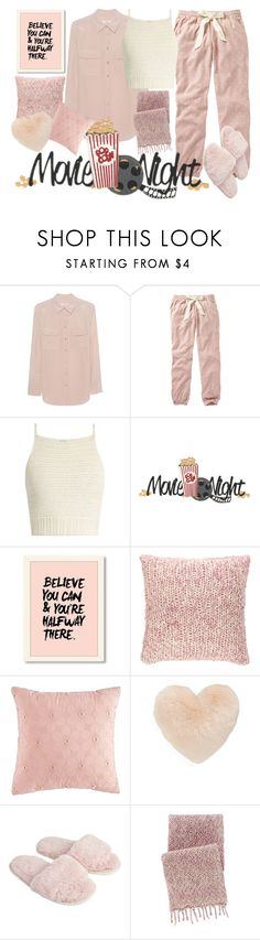"""""""Movie night!"""" by milanaxx ❤ liked on Polyvore featuring Equipment, Fat Face, SHE MADE ME, Pine Cone Hill, Nordstrom, Accessorize and polyvorefashion"""