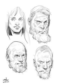Borislav mitkov - illustration/concept art/storyboarding - whole bunch of s Character Design Cartoon, Character Sketches, Character Drawing, Character Design Inspiration, Portrait Sketches, Drawing Sketches, Drawing Tips, Drawing Models, Comic Kunst