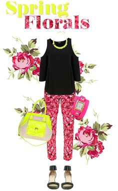 Love @StingyStyle's fun floral ensemble, using our Phospho necklace! Spring outfit