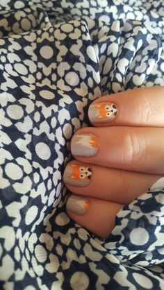 Jamberry fall 2015 faux fox; short nails; fall manicure