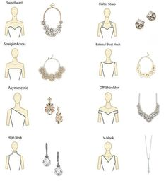 Necklace for neckline - Wedding Dress Trends 2019 – Necklace for neckline Fashion Terms, Fashion Mode, Dress Fashion, Gold Fashion, Trendy Fashion, Fashion Outfits, Wedding Dress Necklines, Necklines For Dresses, Neckline Guide