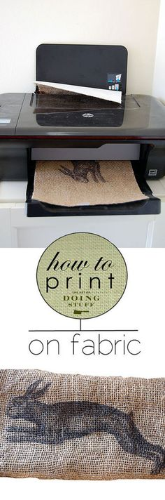 How to print on fabric with just 2 materials you probably have in your house right now. Freezer paper and an inkjet printer. WARNING: totally addictive.