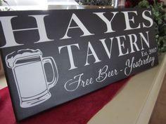 Custom Bar Sign Wood Sign Groomsmen gift by KendrasKreations, $40.95